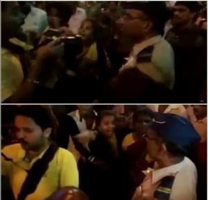वर्दी के नशे में चूर पुलिस कर्मी को गाली देना भारी पडा,गाली देने के बाद लोगों ने पुलिस कर्मी की करदी पिटाई,पिटाई का बना वीडियो,मारपीट में एक फोटो ग्राफर भी शामिल,तीन गिरफ्तार बाकी फरार,पुलिस फरार फोटो ग्राफर को भी तलाश कर रही है,वीडियो हुआ वायरल,घटना मुंबई के शिवाजी पार्क पुलिस थाने की