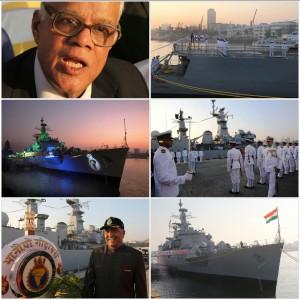 आईएनएस गोदावरी की आज भारतीय नव सेना से विदाई,नव सेना की बड़ी हस्तियों की मौजूदगी में नव सेना ने आइएनएस गोदावरी को दी आख़री सलामी